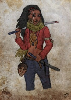 Tiana and Naveen (As a Shrunken Head)