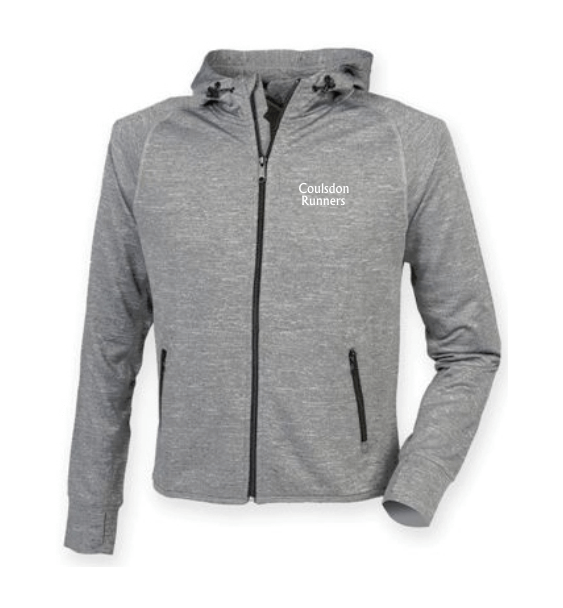 coulsdon runners hoodie jacket grey front