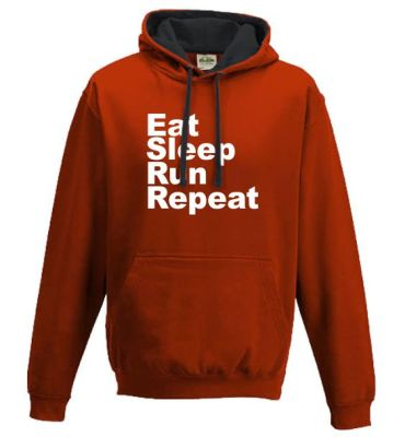 running hoodies Eat Sleep Run Repeat