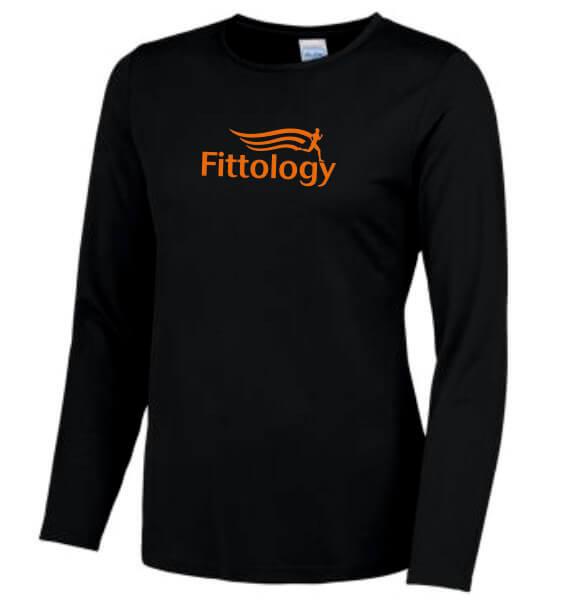 fittology ladies black long sleeve