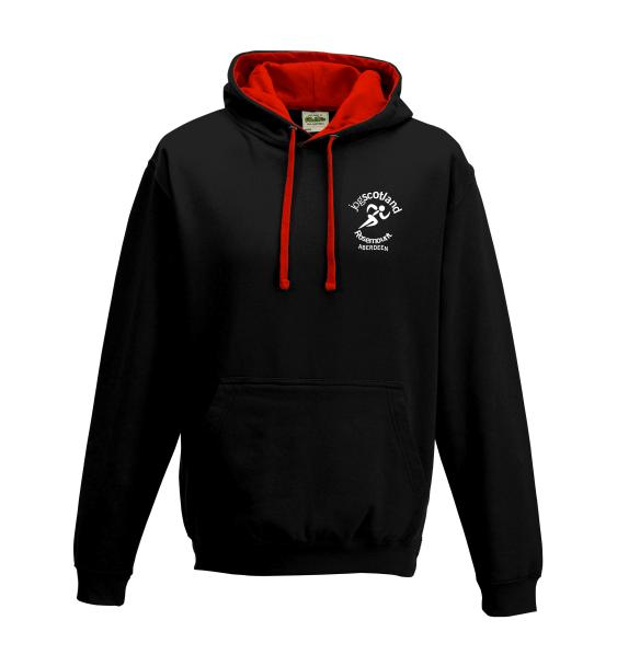 jog scotland hoodie black front