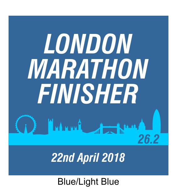 london marathon finisher coaster skyline blue