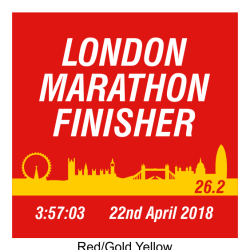Coasters London Marathon Finisher Skyline