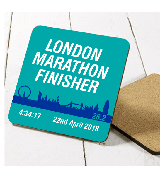 london marathon finisher coaster skyline