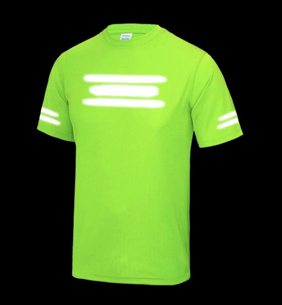 la meilleure attitude 0f290 9ea73 Custom Reflective Running T-shirts Ladies. Reflective custom words and  symbols %