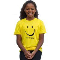 Kids running t-shirts run happy