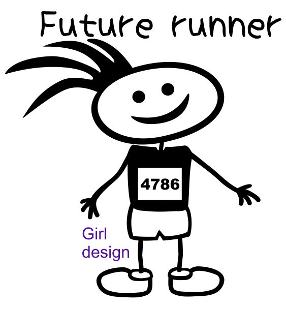baby future runner girl design