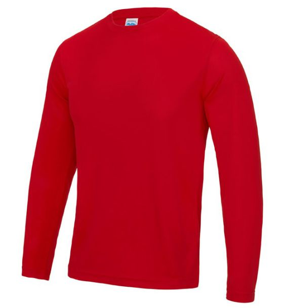 long sleeve runnind mens red