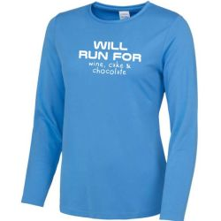Ladies long sleeve running