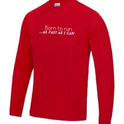 Mens long sleeve Running top born to run