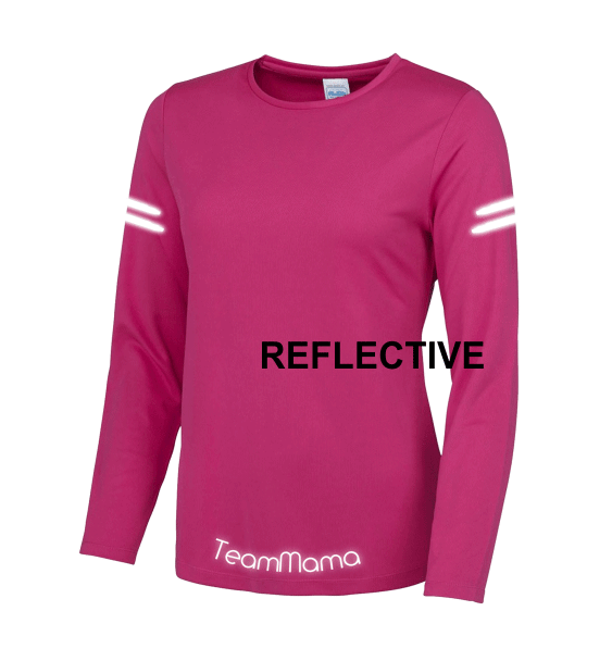 team-mama-reflective-hot-pink-front-long-sleeve