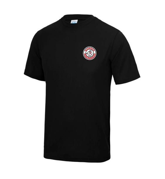 Burnden running club tshirt black front mens