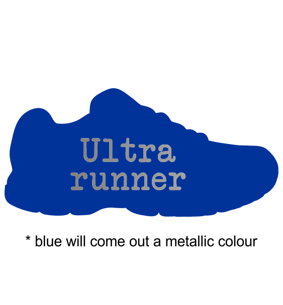 metal trainer blue sample