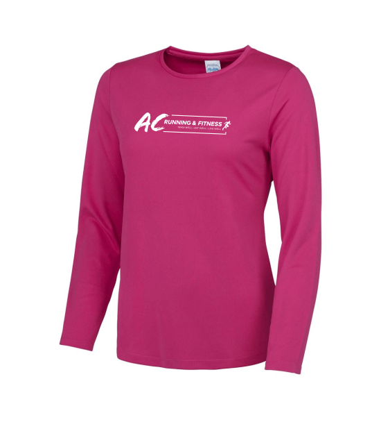 AC running long sleeve hot pink