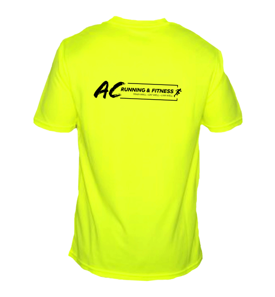 AC running long sleeve mens electric yellow back