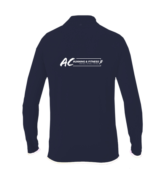 AC running navy zip back