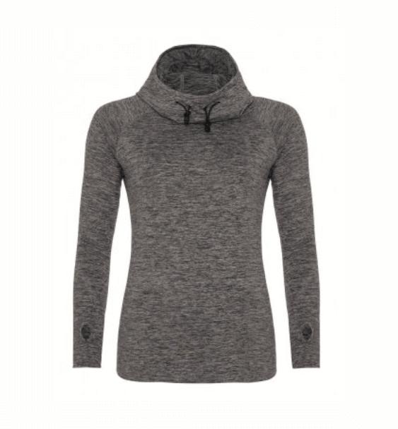 Cowl Neck Ladies Grey Front