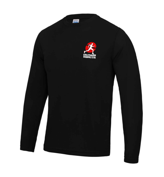 cheltenham running club Men's Long Sleeve Black