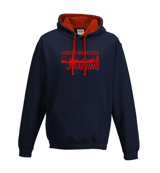 London Marathon Training navy hoodie