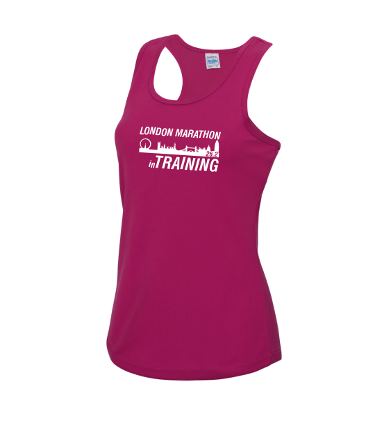 london training hot pink vest