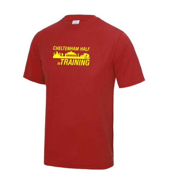 Cheltenham Half in training mens red