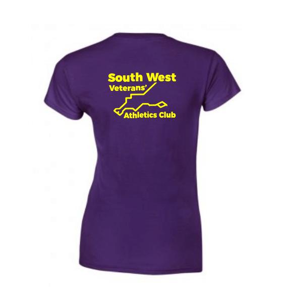South West Veterans Ladies T-shirt Back