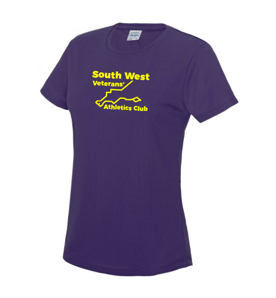 south west veterans ladies tshirt front