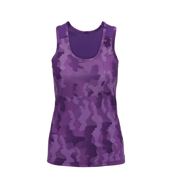 td hex ladies vest purple
