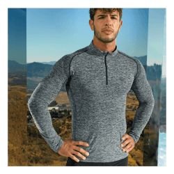 Mens Lightweight Performance Zip Top