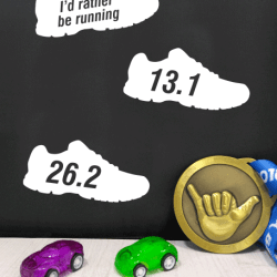 Running stickers