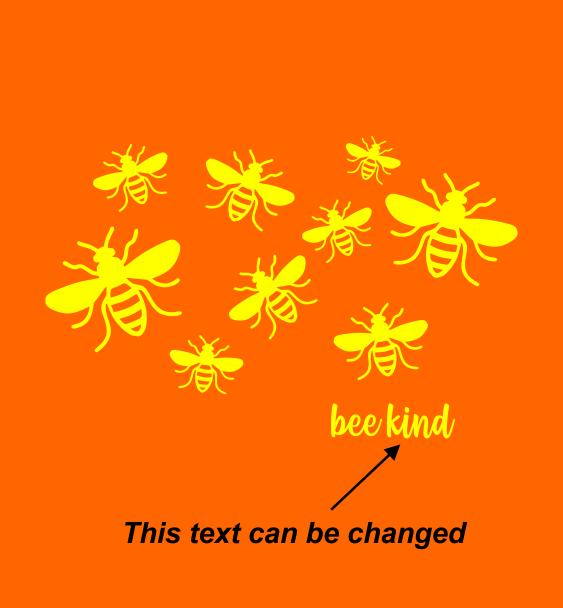 beeee kind text