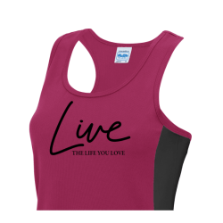 Live the life you Love Ladies T-shirts