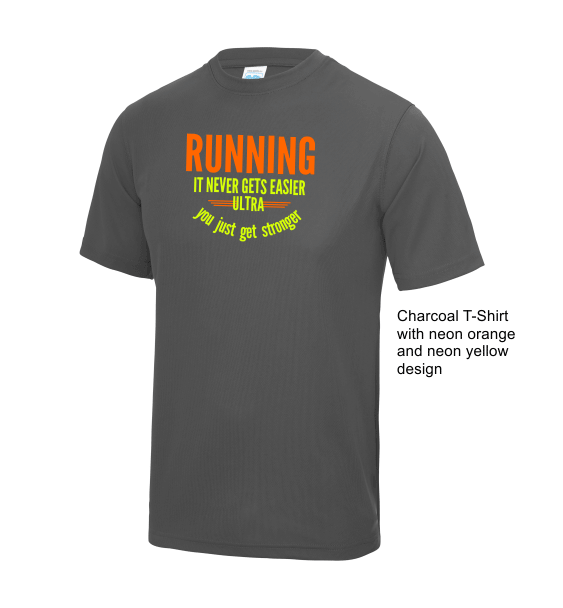 Running-stronger-charcoal-tshirt