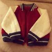 And finally: an adorable baseball jacket by Debbie Bliss