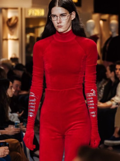 Vetetements' SS17 collection saw the Juicy Couture sweatsuit reimagined as formal wear