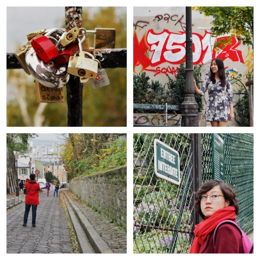 collage montmartre Rouge