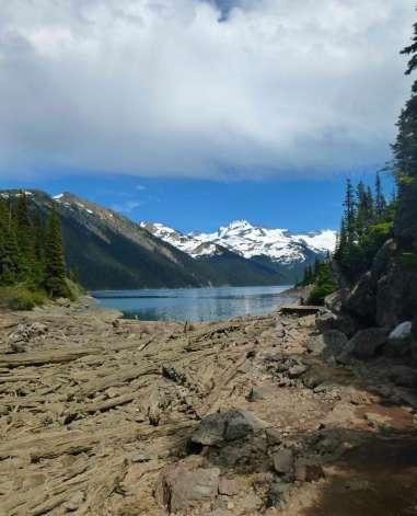 First view of Lake Garibaldi