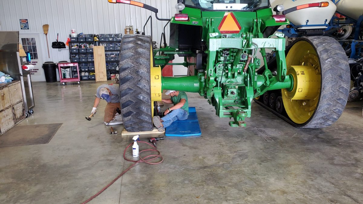 Evan and Cameron Replacing Bogey Wheels