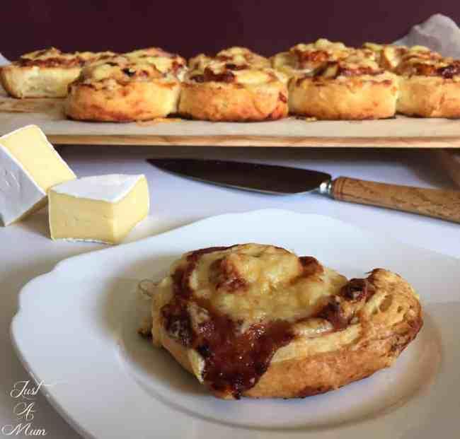 Chicken, Camembert & Plum Pinwheels