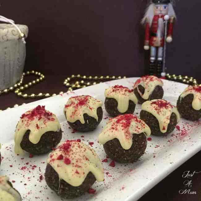 Just A Mum's Christmas Pudding Bliss Balls