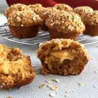 Anzac Muffins with a Caramel Filling