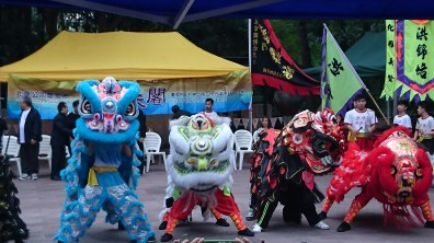 Lion Dances in Kowloon park (so noisy!)