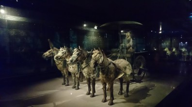 Reconstructed carriage in the exhibit hall of the museum