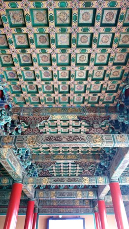 The painted ceiling in the Forbidden City