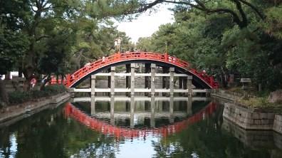 The bridge in the Sumiyoshi Taisha