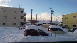 Heavy snowfall on the way up!