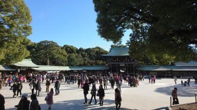 Very busy inside the shrine!