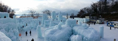 The Ice Festival, it was very cold!