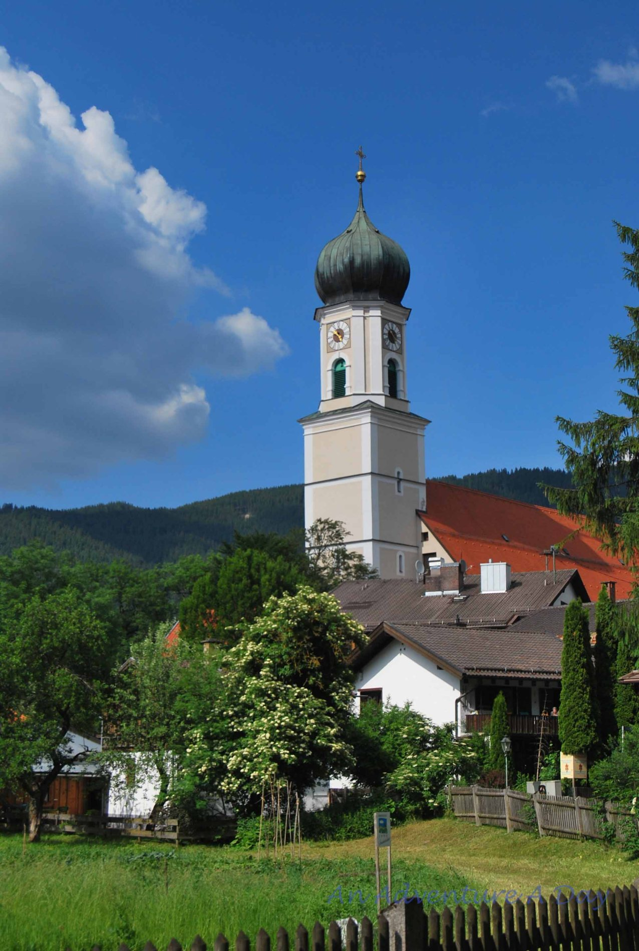 The outskirts of the charming Bavarian city of Oberammergau.