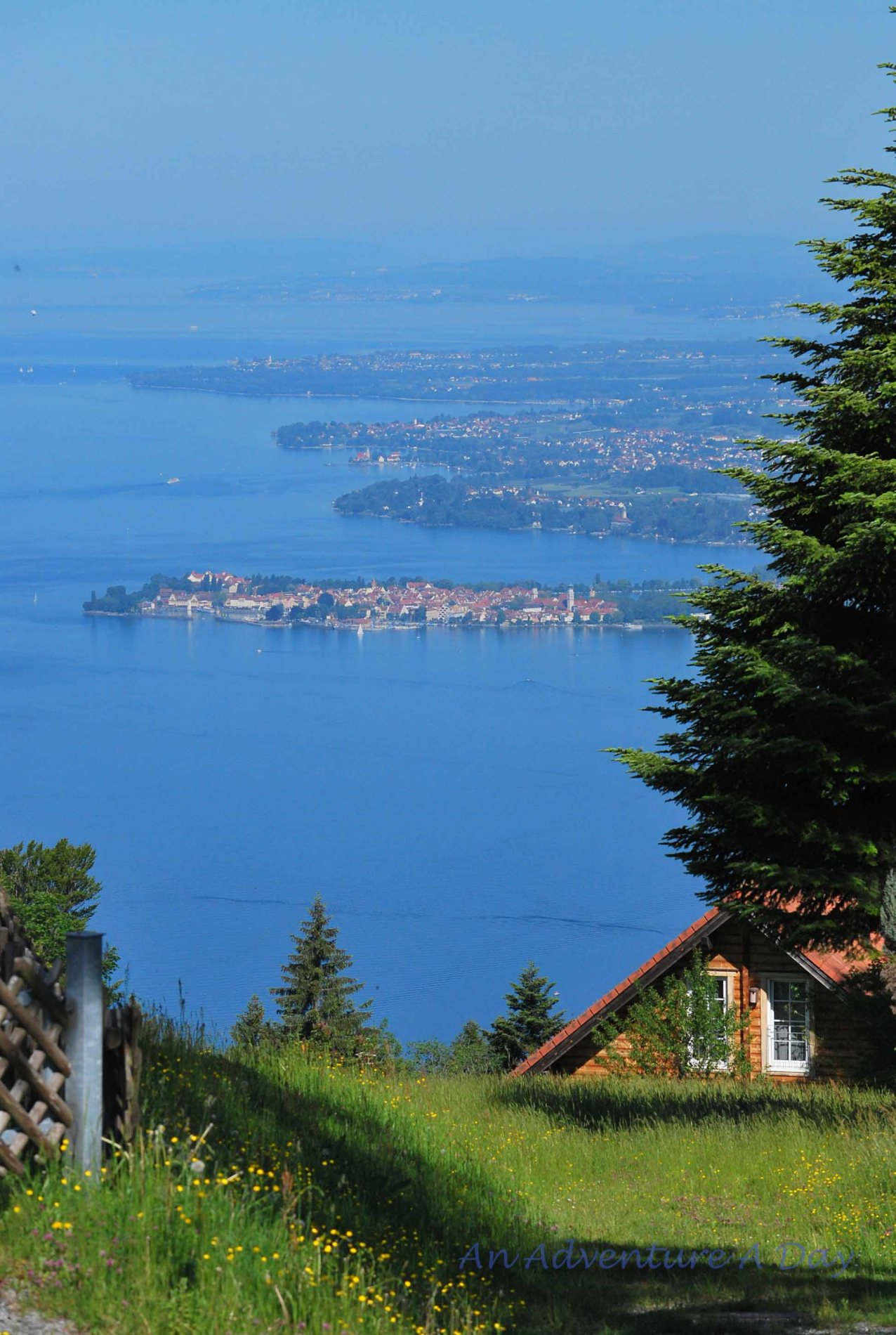 A view of the Bodensee (Lake Constance) from Pfänderalm near Bregenz, Austria.